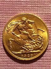 1928 Gold British Sovereign