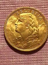 1935 Gold 20 Franc
