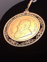 Estate 1978 1 Ounce Gold Krugerrand Pendant