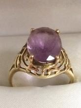 Estate 14kt Gold Amethyst Ring