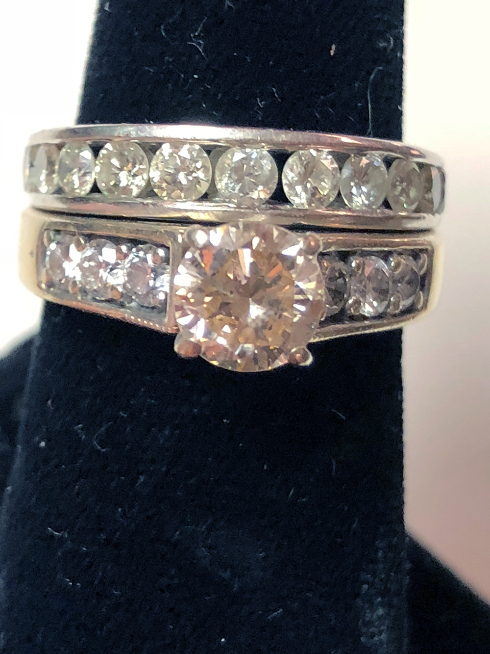 Ladies 14kt Gold and Diamond Wedding Set