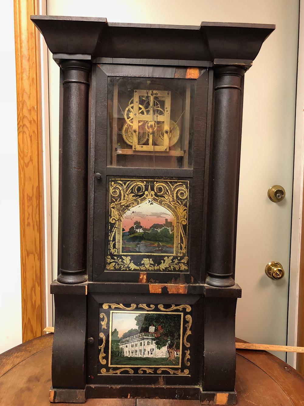 Silas B. Terry Triple Decker Shelf Clock