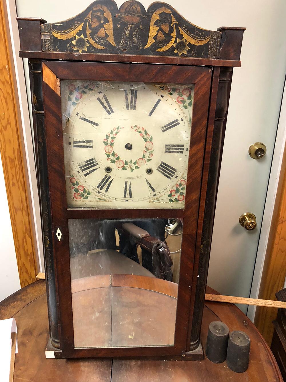 Eli Terry & Son Wooden Works Column Clock