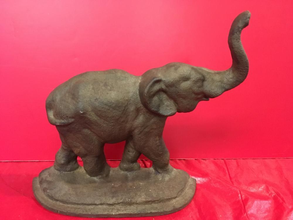 Antique Elephant Door Stop