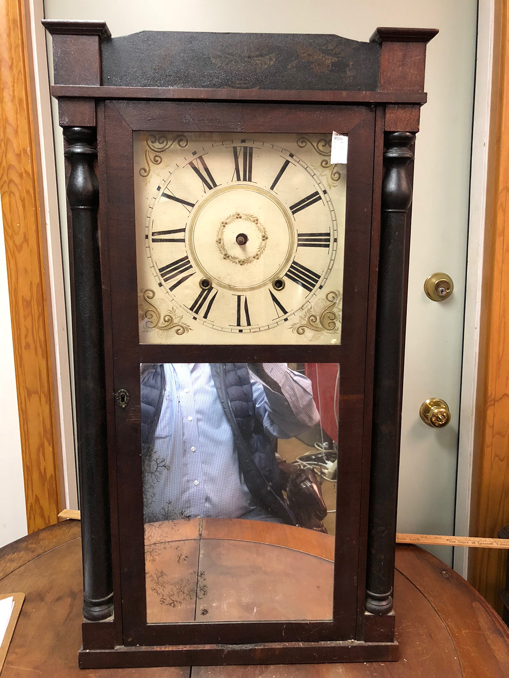 Boardman and Wells Half Column Clock