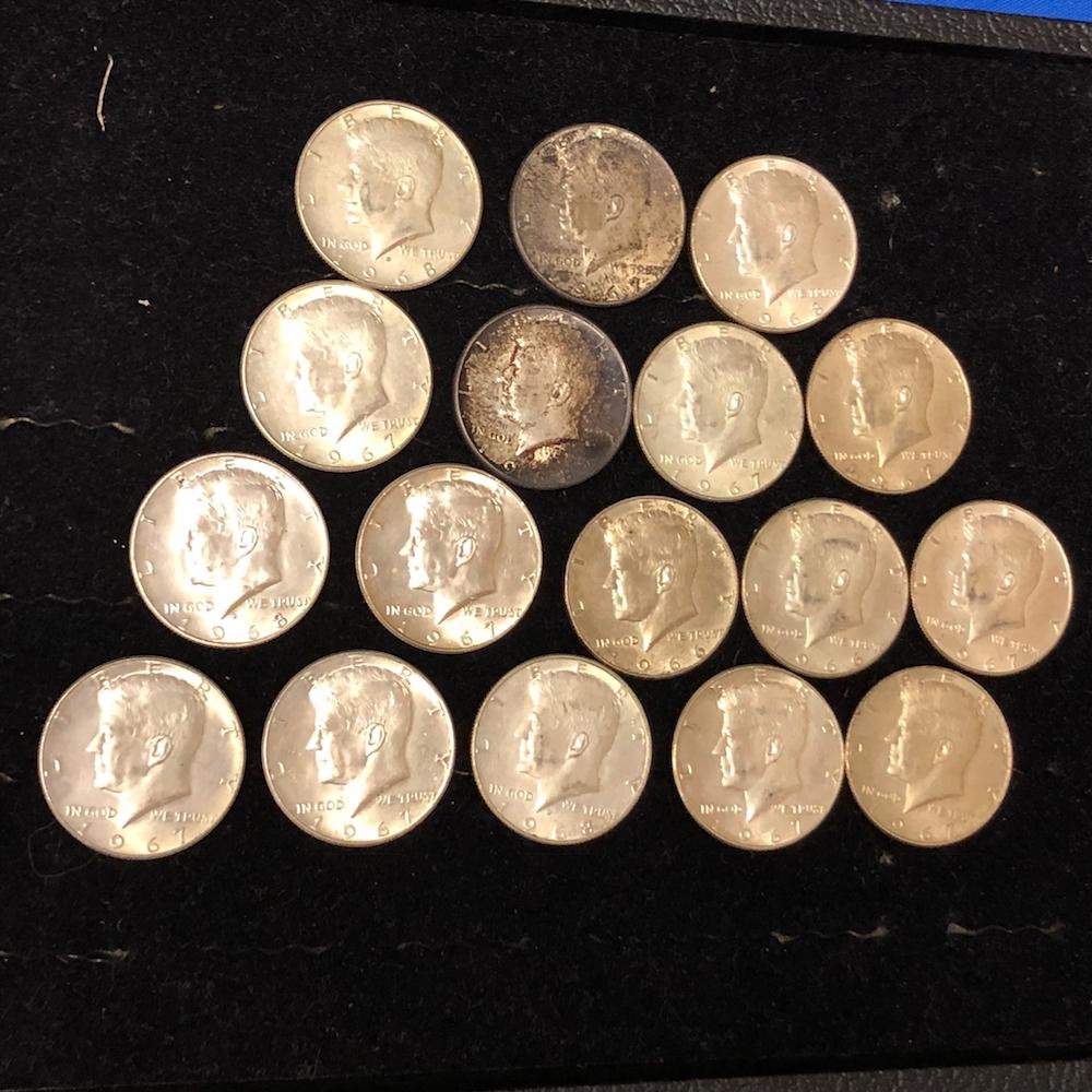 17 Kennedy Half Dollars