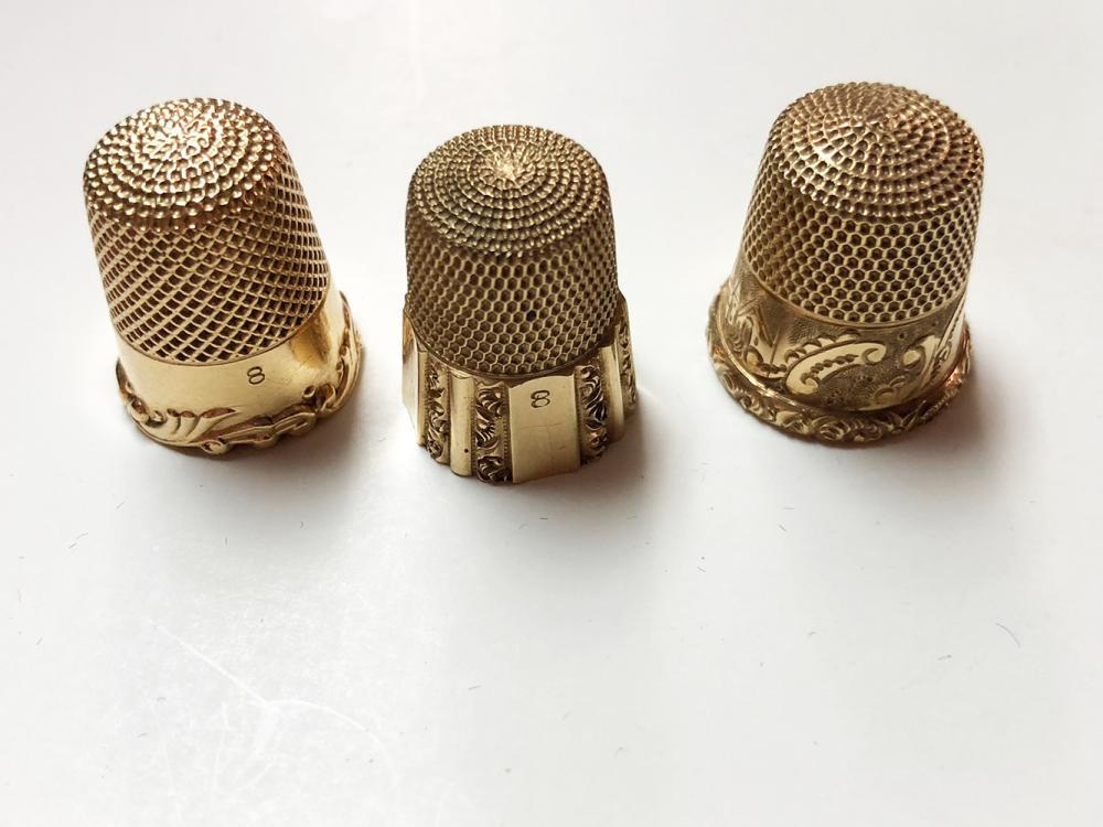 14kt Gold Victorian Thimbles