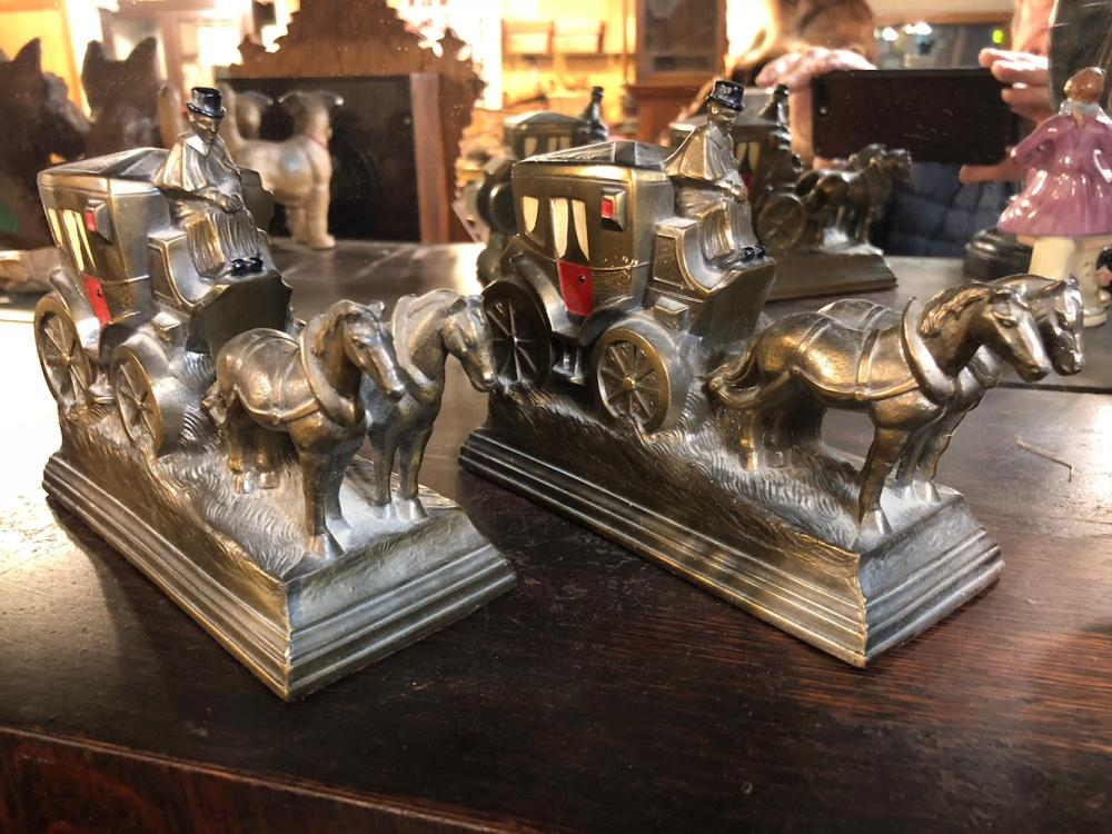 Horse and Buggy Bookends