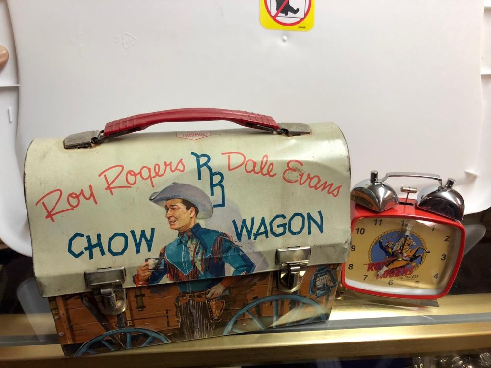 Roy Rogers Lunch Box and Clock
