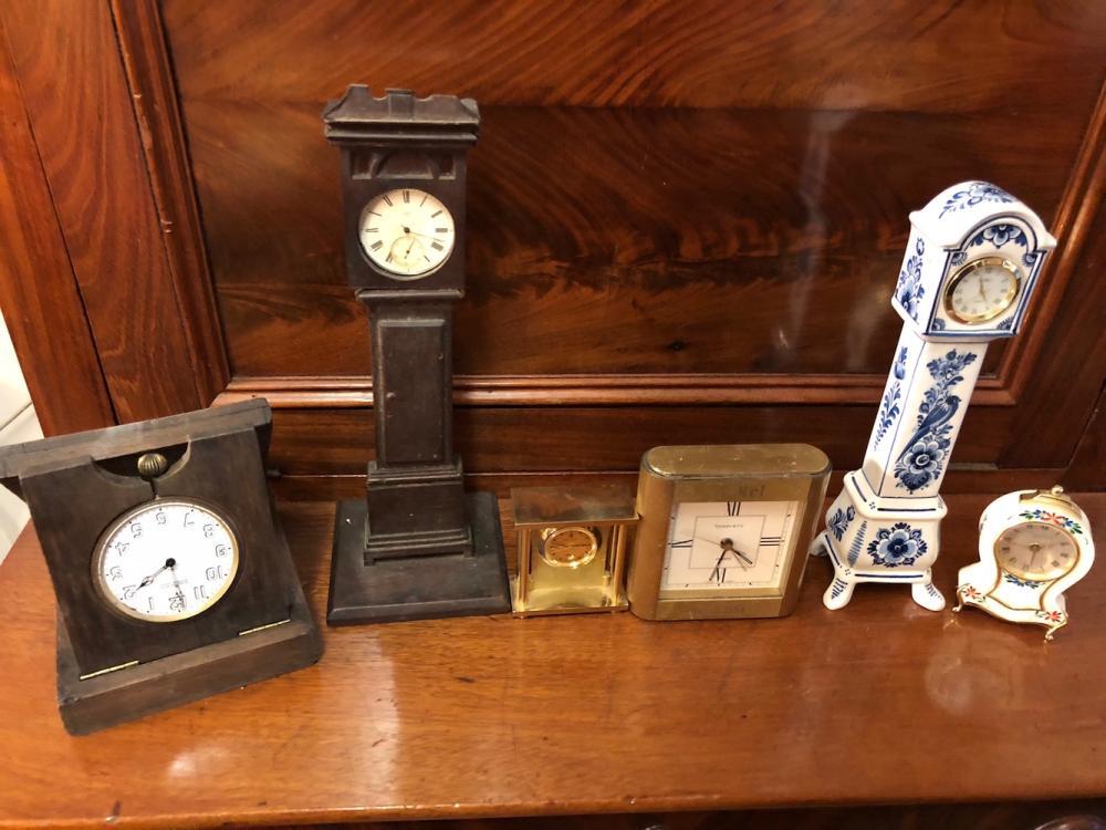 6 Estate Minature and Travel Clocks