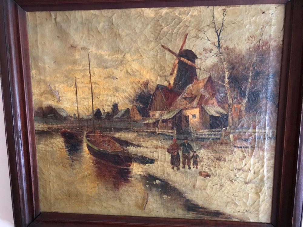 Van Swieten Oil Painting