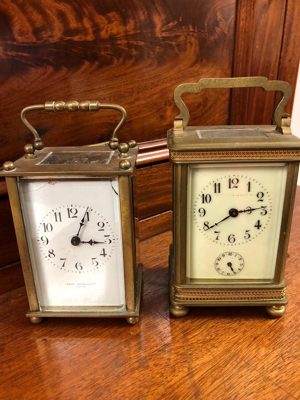 2 French Brass Carriage Clocks