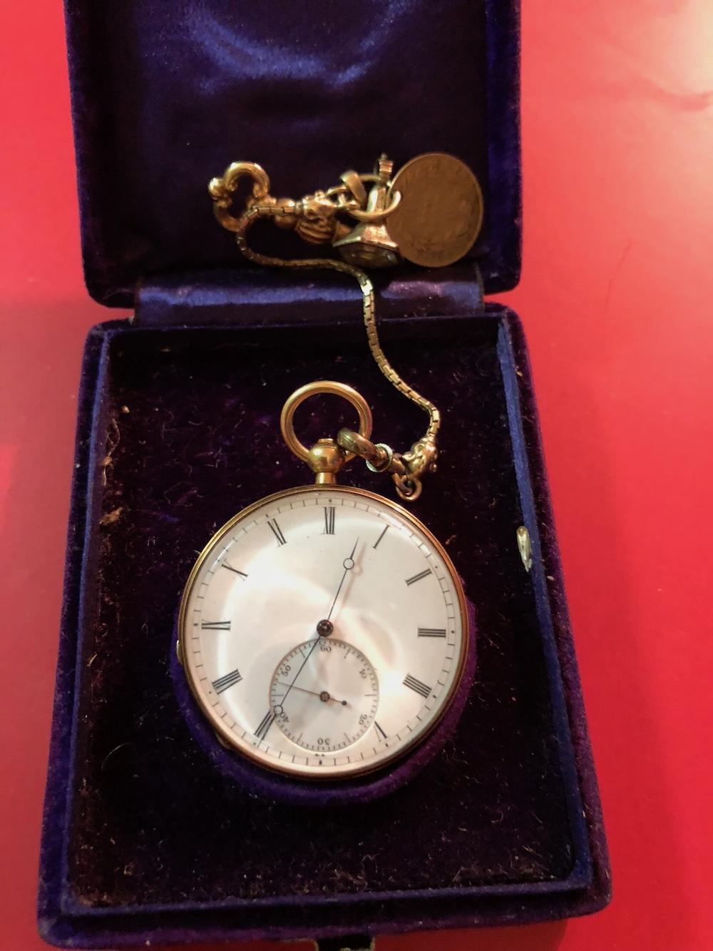 Gold Geneva Pocket Watch