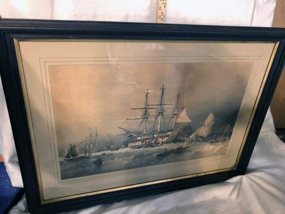 Framed Sailing Lithograph