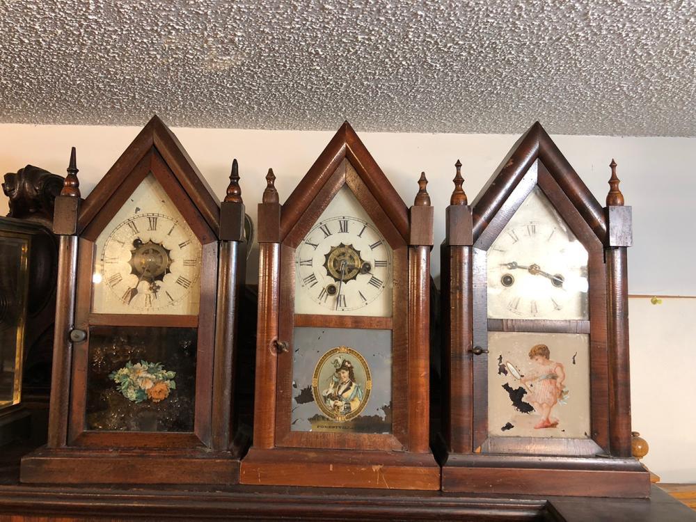 3 Miniature Steeple Clocks