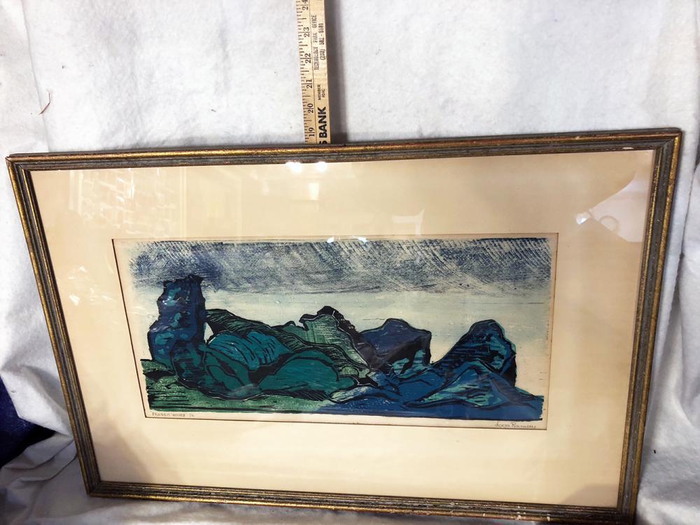 Daga Ramsey Frozen Waves Serigraph