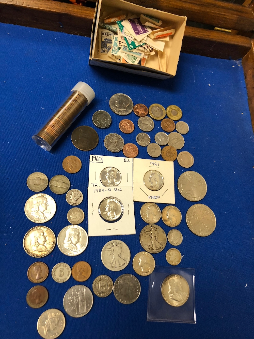 Silver Coins and Stamps