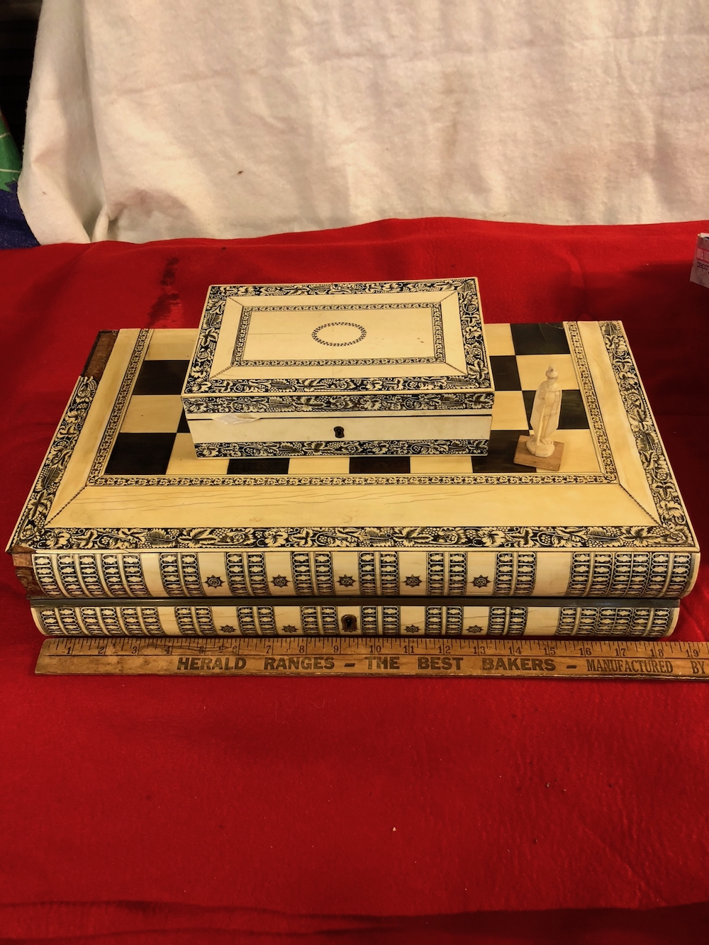 Asian Antique Chess and Checkers Set
