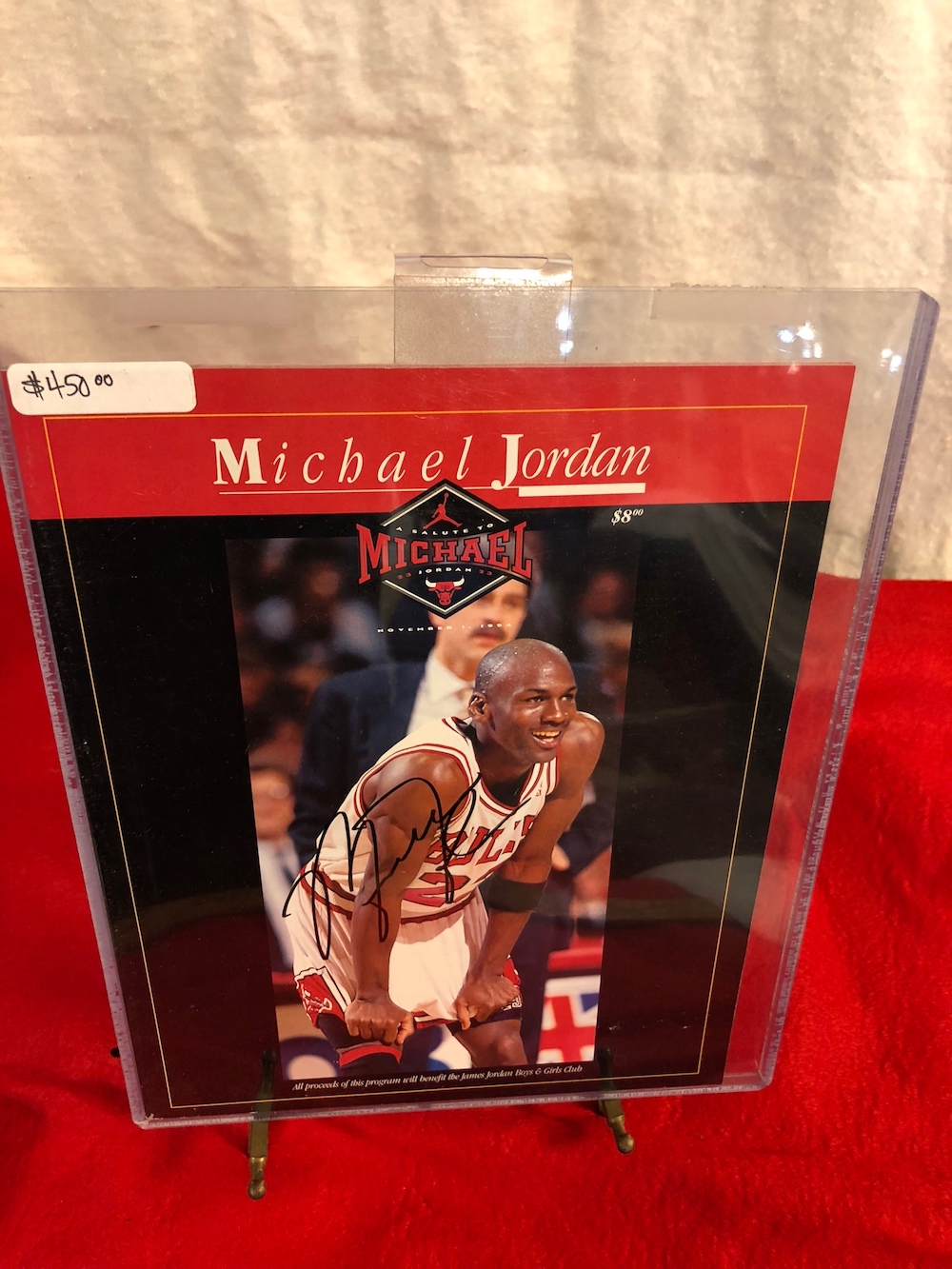 Michael Jordan Autographed Program