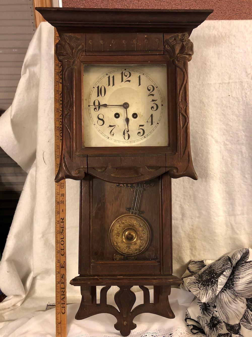 Oak Arts & Crafts Wall Clock