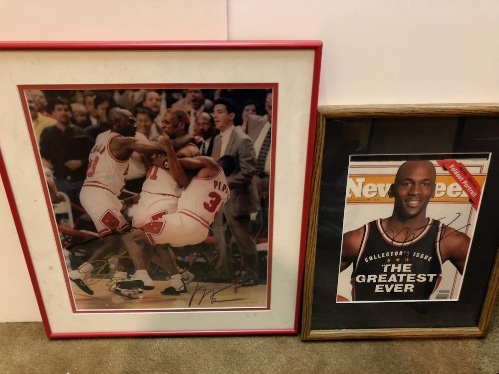 Autographed Chicago Bulls Photographs