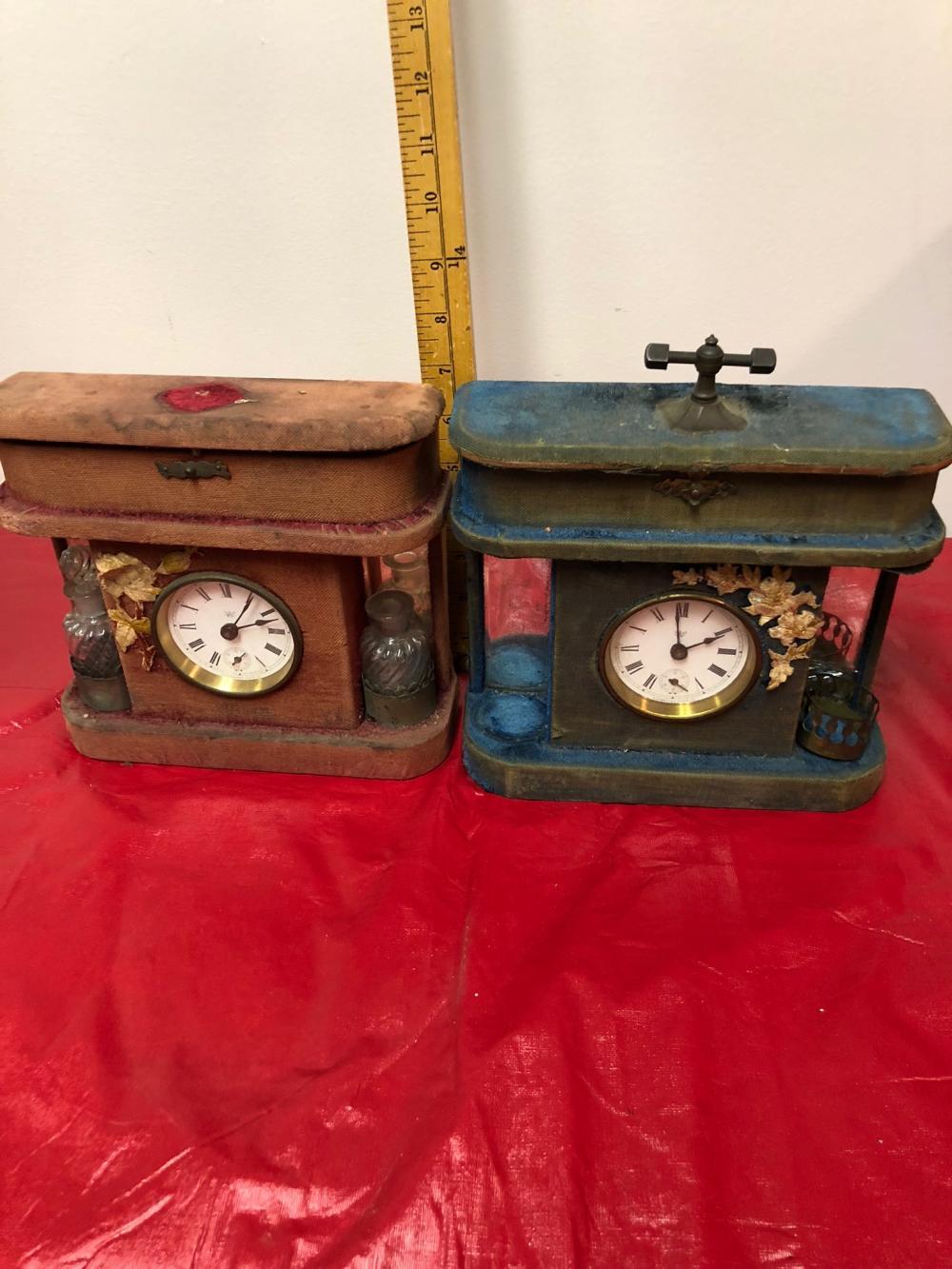 2 Waterbury Victorian Ladies Dresser Clocks