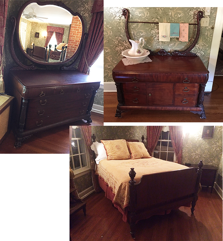 acanthus carved mahogany bedroom set