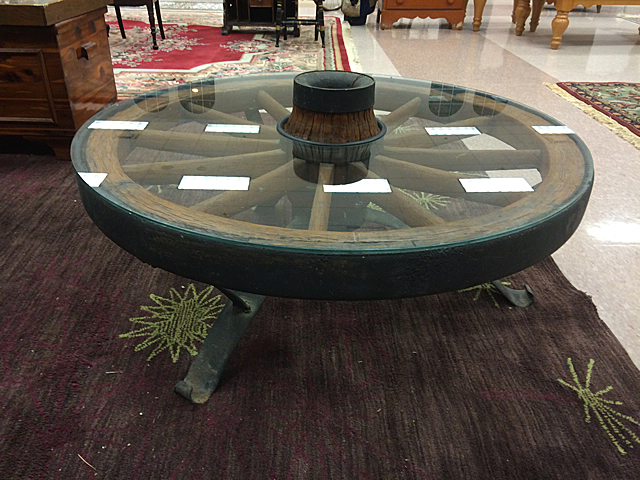 how to make a wagon wheel table