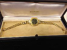 Bvlgari 18kt Gold Bracelet with Ancient Bronze Coin