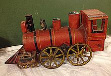 Estate Outstanding Folk Art Toy Train