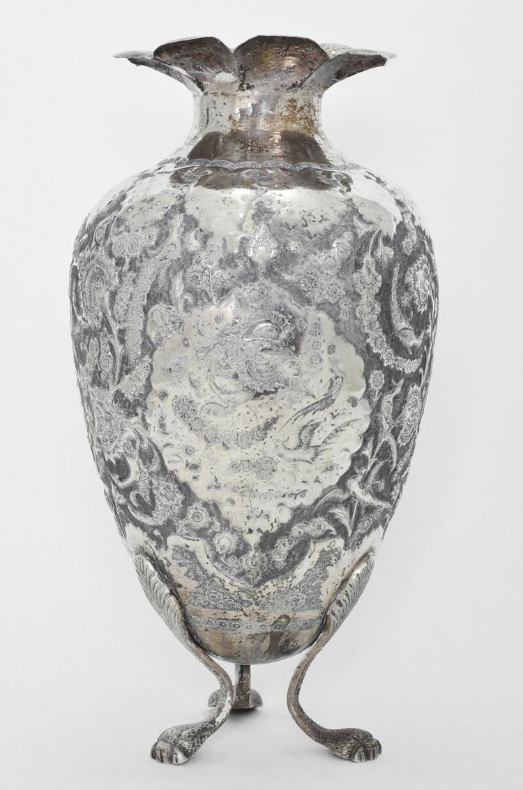 a persian silver vase