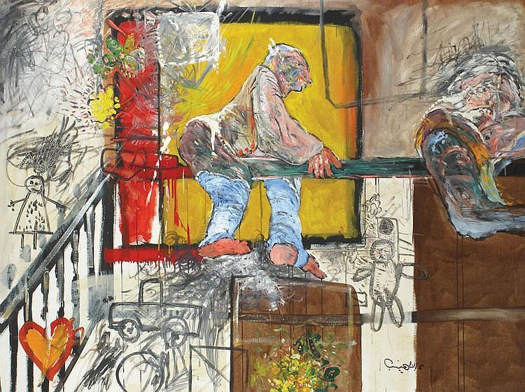 Uri Lifshitz 1936 - 2011 Homage to Goya