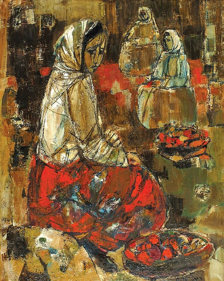 Ruth Schloss b. 1922 Women in the Market