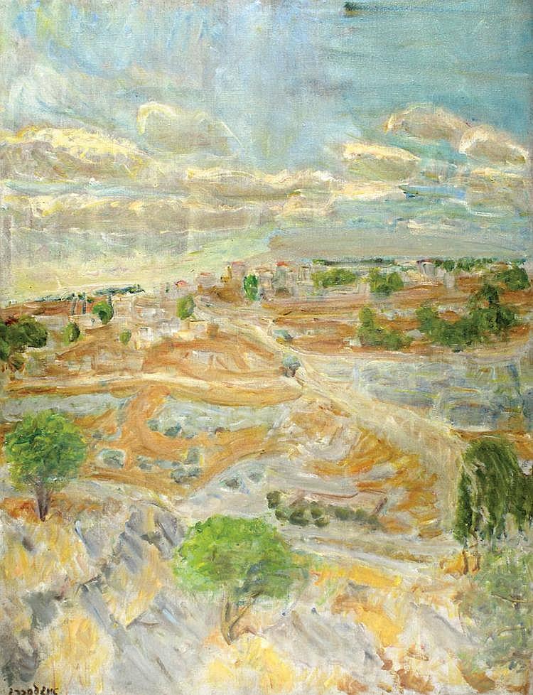 Leon Engelsberg 1908 - 1998 Jerusalem Landscape,