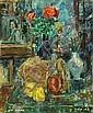 Zvi Shor 1898 - 1979 Still Life,, Zvi Schorr, Click for value