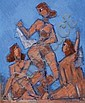 Arie Lubin 1897 - 1980 Dancers, Arieh Lubin, Click for value