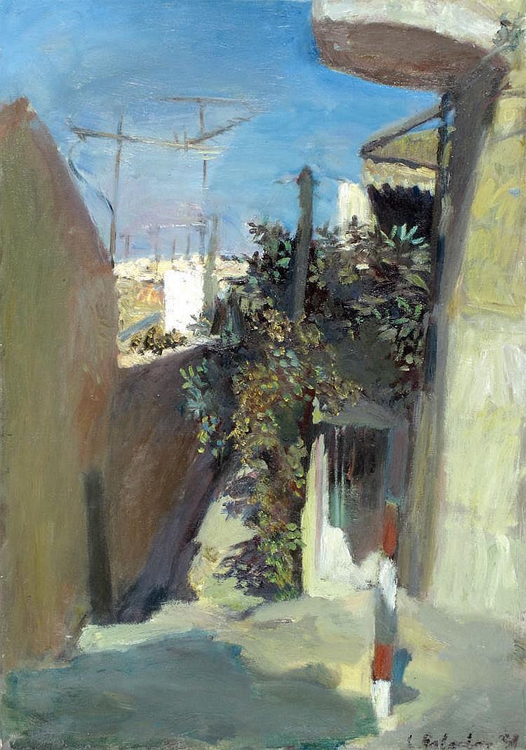 Leonid Balaklav b. 1956 Alleyway in Jerusalem,
