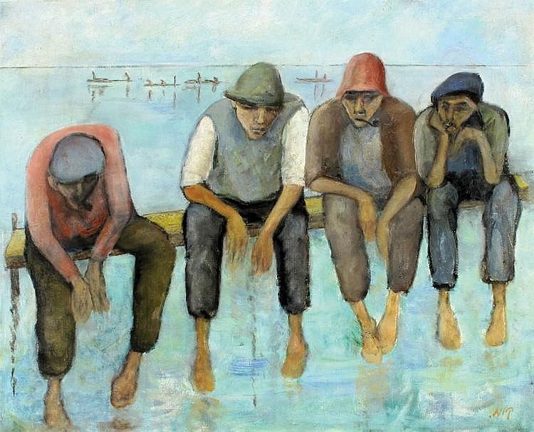 Kaete Ephraim Marcus 1892 - 1970 Fishermen
