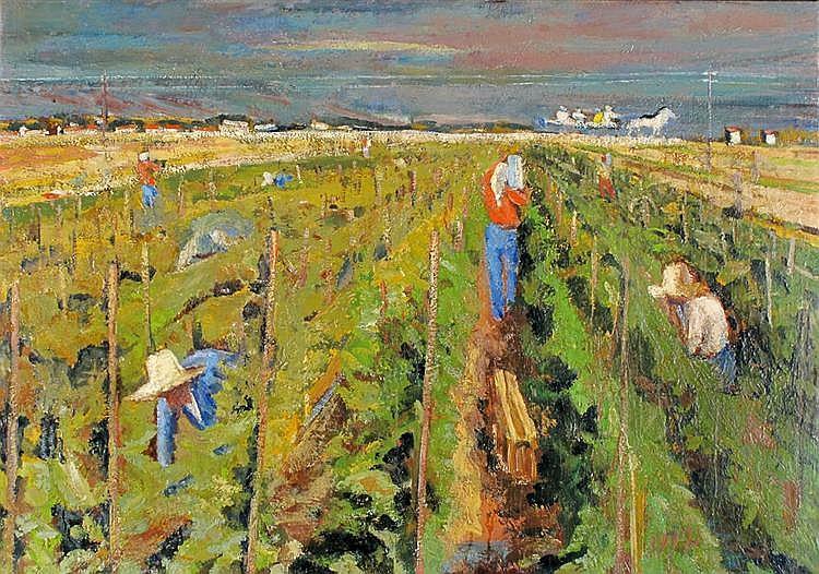 Kaete Ephraim Marcus 1892 - 1970 The Vegetable Garden in Ein Gev