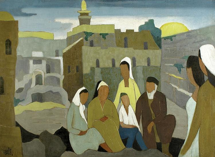 Shmuel Schlesinger 1896 - 1986 By the Wailing Wall