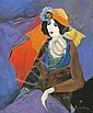 Isaac Tarkay b. 1935 Girl, Itzchak Tarkay, Click for value