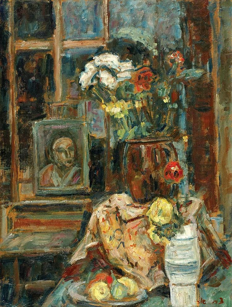 Zvi Shor 1898 - 1979 Still Life,