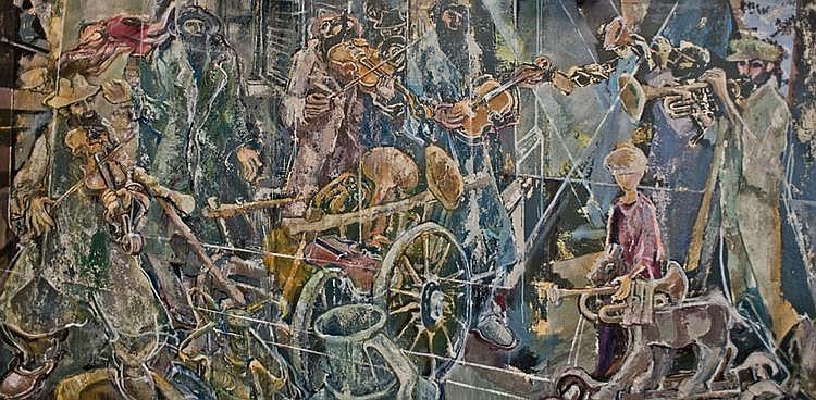 Gershon Knispel b. 1932 Homage to the Klezmer