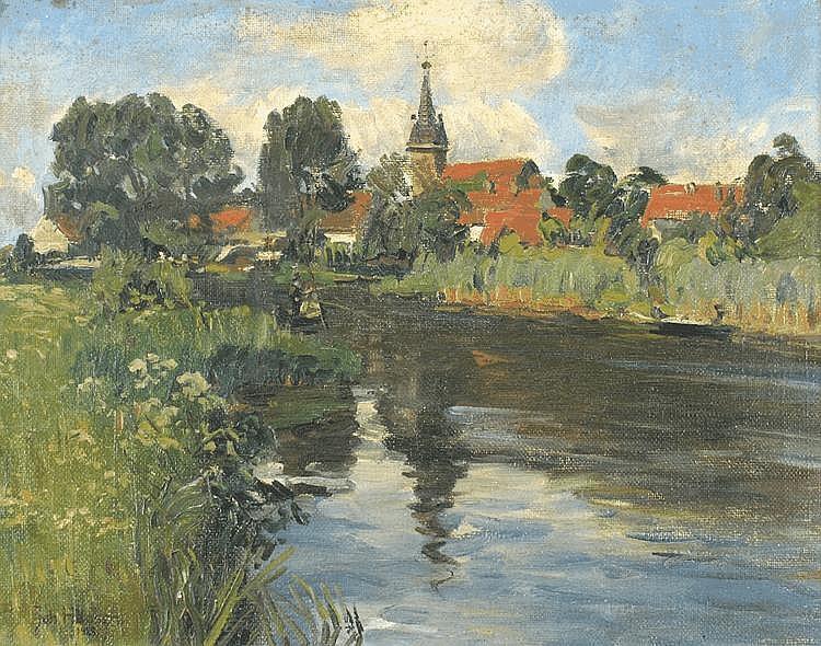 Johannes Hansch (1875 - 1945), Rural Landscape