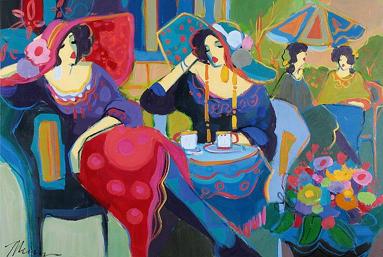 Isaac Maimon b. 1951 In the Coffee Shop