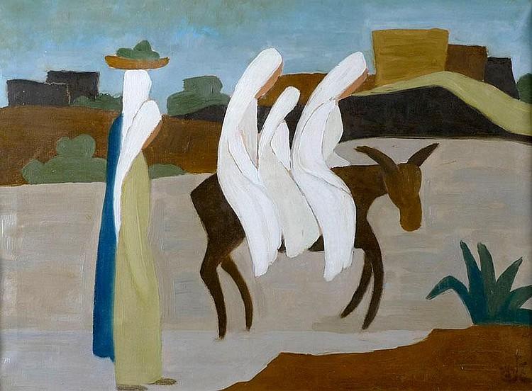 Shmuel Schlesinger 1896 - 1986 Road to Ein-Hod,