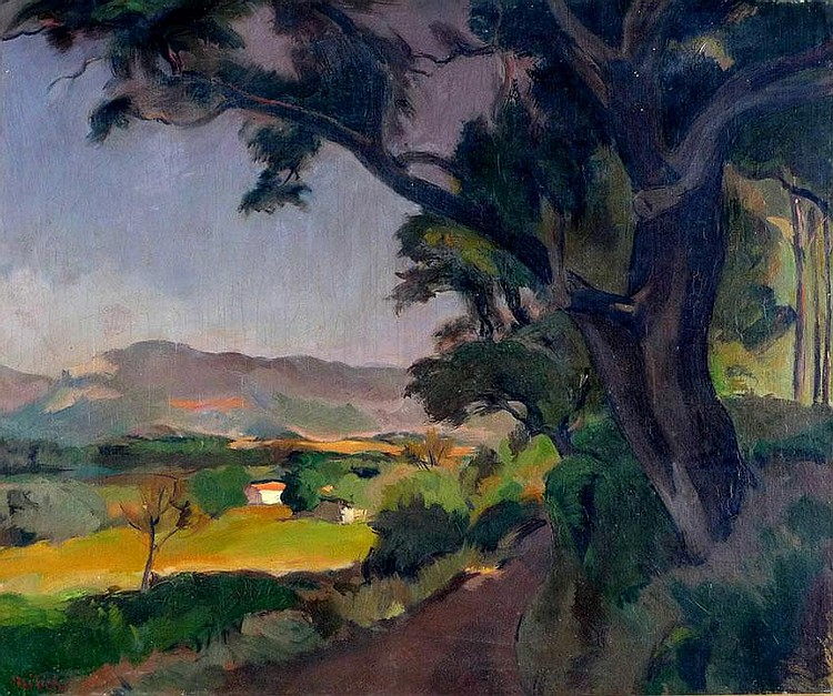 Adolphe Milich 1884 - 1964 Landscape, Oil on