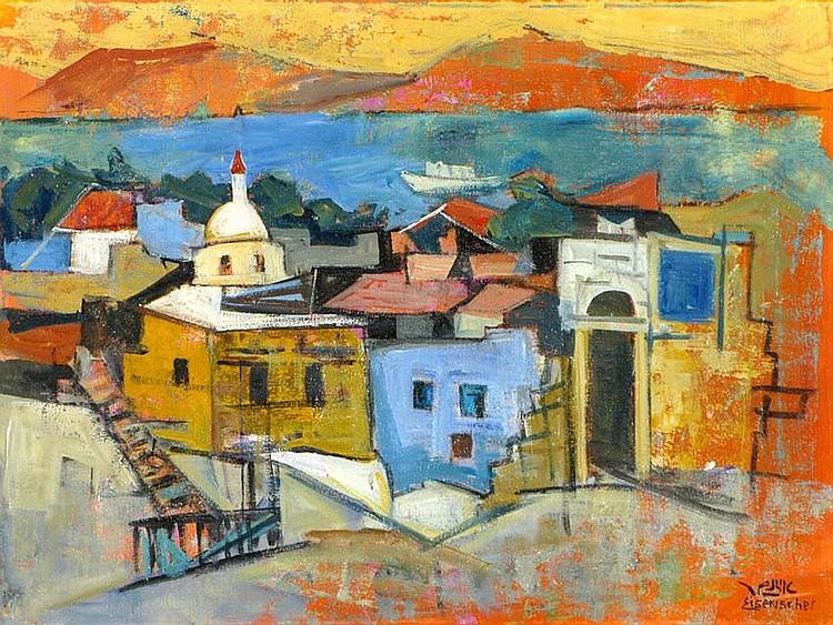 Jakob Eisenscher 1896 - 1980 Tiberius, Oil on