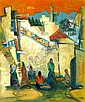 Jakob Eisenscher 1896 - 1980 Figures in Jerusalem,, Yaacov Eisenscher, Click for value
