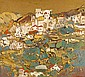 Avraham Azmon 1916 - 2008 Urban Landscape, Oil on, Abraham Azmon, Click for value